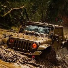 Here at Raven, we are wishing everyone a safe and muddy monday! Jeep Rubicon, Jeep Jk, Jeep Wrangler Unlimited, Jeep Truck, 4x4 Trucks, Trailers, Car Trailer, Jeep Quotes, Jeep Sahara