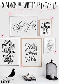 Black and white printable a