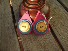 pendiente cuero 3 de Thuytienda por DaWanda.com