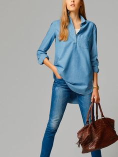 LARGE DENIM BLOUSE - View all - Shirts & Blouses - WOMEN - Ireland