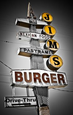 "Listen guys, I want my sign to say ""Mexican Food, Pastrami and Burger - in that order. Okay?"". ""You got it Jim..."""