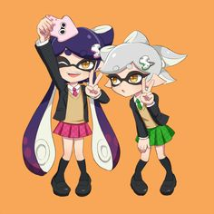 Squid Sisters Callie and Marie from Splatoon via pixiv