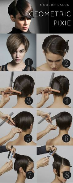 short hairstyles for school Hair Cutting Videos, Hair Cutting Techniques, Hair Color Techniques, Cut Own Hair, How To Cut Your Own Hair, Layered Bob Hairstyles, Diy Hairstyles, Haircuts, Short Hair Cuts