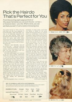 Incurlers: Pick a Hairdo! 1970s Hairstyles, Hair Patterns, Vintage Ads, Hair Trends, Makeup Looks, How To Look Better, Hair Makeup, Hair Styles, Beauty
