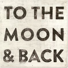 "To The Moon and Back' Reclaimed Wood Vintage Wall Art - 12""W (£60) ❤ liked on Polyvore featuring home, home decor, wall art, words, backgrounds, quotes, art, text, fillers and phrase"