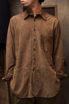 YaYu Men Plus Size Smoke Jung Printing Novelty Long Sleeve Shirt Creative