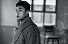 Park Seo Joon looks broody in the upcoming January issue of Harper's Bazaar but they're keeping most of the photos hidden for now. We think these are yummy and can't wait to see t…