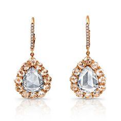 @RahaminovLA rose-cut diamond drop #earrings