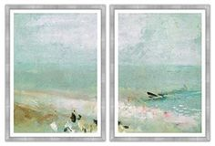 Morning Mist by the Ocean Diptych $1100