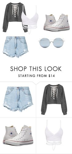 """Mall Outfit"" by ronaldraegan-1 on Polyvore featuring Nobody Denim, Converse and For Art's Sake"