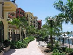 Marco Island, FL The Esplanade--shopping and dining on the bay.