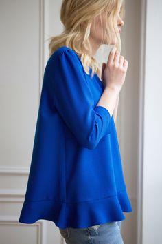 Blouse Lolita bleu Klein (pré-commande)