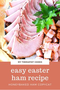 The best dry glaze for ham, this Honey Baked Ham Copycat Recipe will be your new favorite homemade baked ham! Perfect for Easter dinner, Christmas dinner, or anytime you want to make a fancy ham, this recipe is super simple and has only a few ingredients. Mustard helps the spice glaze stick to the ham, and the result is a honey mustard glazed ham that is totally addictive. Ham is great for freezing and to use as leftovers, too! Honey Baked Ham Recipe Copycat, Ham Delights, Easy Ham Glaze, Whole Ham, Spiral Sliced Ham, Ham Glaze Brown Sugar, Christmas Ham, Baking With Honey
