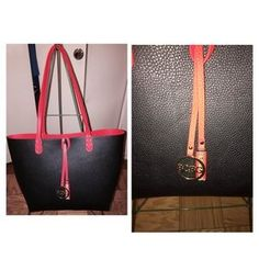 I just discovered this while shopping on Poshmark: reversible tote bag with small red bag n dusk bag. Check it out!  Size: OS