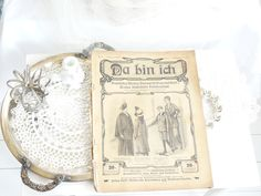 Vintage Zeitungen - °◆°  Antike Zeitschrift, 1914, Mode  °◆° - ein Designerstück von kuki-kuki bei DaWanda
