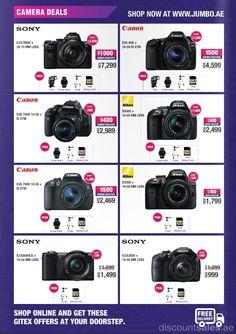 Jumbo Camera Exclusive Deals GITEX Offer      Shop Online & Get These GITEX Offers at Your Doorstep. Jumbo Camera Exclusive Deals GITEX Offer Offer valid from 1st October until 8th October, 2016       (adsbygoogle = window.adsbygoogle || []).push();     #Canon #DSLRCamera #GITEX #GitexBundle #GITEXShopper #Jumbo #Nikon #Sony #CamerasAccessories #Electronics #JumboElectronics #UAEdeals #DubaiOffers #OffersUAE #DiscountSalesUAE #DubaiDeals #Dubai #UAE #MegaDeals #MegaDeal