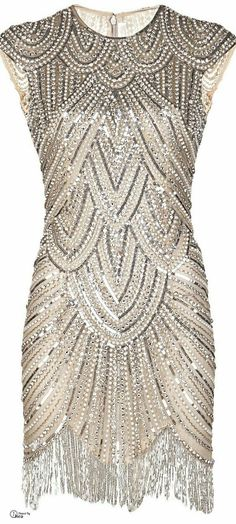 Art deco, beaded, flapper, Gatsby type dress
