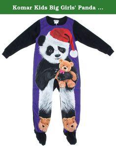 Komar Kids Big Girls  Panda Fleece Blanket Sleeper 540629224