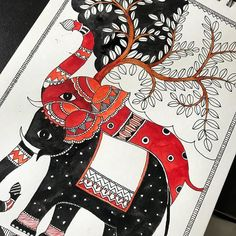 Clash of contrast Traditional madhubani for adults Learn painting artschool bangalore creativepainting jayanagar # Buddha Painting, Madhubani Painting, Kalamkari Painting, Indian Art Paintings, Indian Artwork, Madhubani Art, Indian Folk Art, Traditional Paintings, Indian Art Traditional