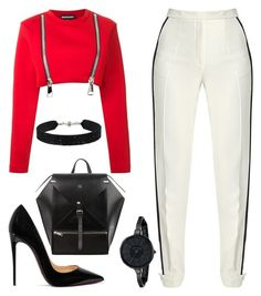 Shhh by kimeechanga on Polyvore featuring polyvore fashion style Nicopanda Elie Saab Christian Louboutin Anne Klein She.Rise clothing