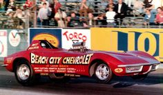 The Beach City Chevrolet Corvette Funny Car at LIONS DRAG STRIP