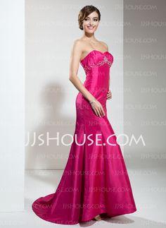 Holiday+Dresses+-+$112.99+-+Mermaid+Sweetheart+Sweep+Train+Taffeta+Holiday+Dress+With+Ruffle+Beading+(020026011)+http://jjshouse.com/Mermaid-Sweetheart-Sweep-Train-Taffeta-Holiday-Dress-With-Ruffle-Beading-020026011-g26011