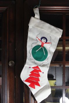 Vitnage Felt Christmas Stocking  Japan Felt by CashmereJellybean, $7.00