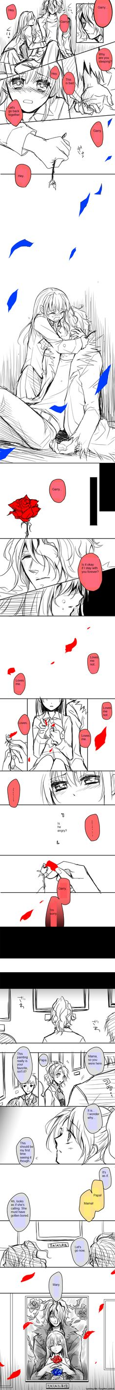 Ib Comic 2 by Kokoro-Kiseki1 on deviantART >>>>>>>> that's so sad D': I love Gary and Ib