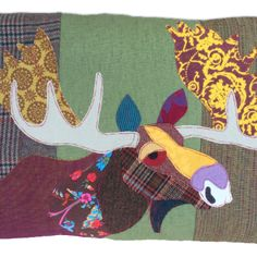 Moose Cushion by Carola van Dyke