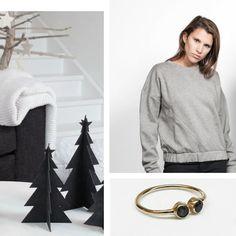 XMAS GIFTS #anglestore #xmas #xmasgift #gift #giftideas #ring #minimal #sweater #grey