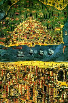 Ottoman miniature - Istanbul by Matrakçı Nasuh