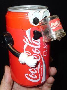 Vintage Coca Cola Can ROBOT COIN BANK