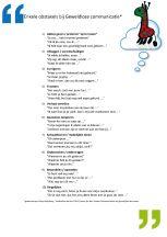 Geweldloze Communicatie tien obstakels