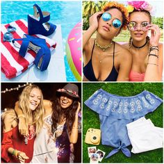 Follow our summer must-haves board to shop shades, cut-offs, cold-shoulder tops, and more!