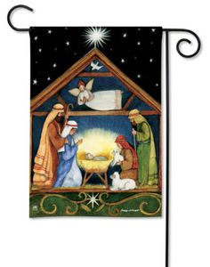 Breeze-Art-BETHELEHEM-ART-DECO-NATIVITY-CHRISTIAN-GARDEN-FLAG-12-5x18