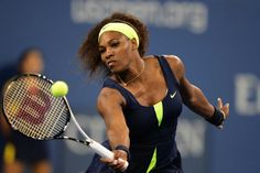 Serena Williams (USA)[4] in first round action against Coco Vandeweghe at Arthur Ashe Stadium. - Rob Loud/USTA