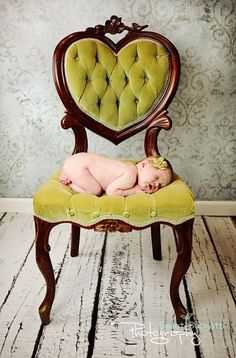 I need to visit some thrift shops for vintage furniture I can fix up. Love this chair! Presh lil baby