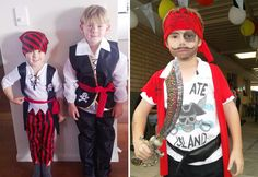DIY kids Pirate costumes | Kids fancy dress ideas | Mouths of Mums  sc 1 st  Pinterest & DIY Tutorial: DIY BOYS HALLOWEEN COSTUMES / DIY Kidsu0027 Pirate Costume ...
