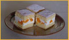 Tvarohovo-smetanové řezy s mandarinkami