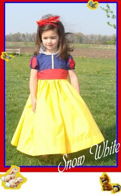 To make this easy to wear and easy to wash Snow White dress, first start with the Beautiful Dreamer pattern