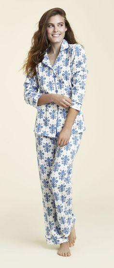 "Bedhead Women's ""Delft Fleur"" Classic Stretch Pajama Set"