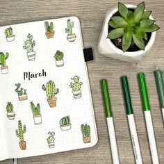 🌵✨ my march plan with me + bullet journal setup is here … it's up y'all! 🌵✨ my march plan with me + bullet journal setup is here and there are cacti involved cactus pour bullet journal carnet de bord Bullet Journal Inspo, Bullet Journal Planner, March Bullet Journal, Bullet Journal Aesthetic, Bullet Journal Themes, Bullet Journal Spread, Bullet Journal Layout, Journal Art, Bullet Journal Student