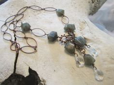 Boho Jewelry/Gemstone/Mixed Metal by edanebeadwork on Etsy, $49.00