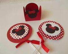 Kit festa Minnie vermelha - 70 itens