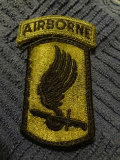 Vintage Vietnam era U.S. Army - 173rd Airborne Infantry (subdued) Patch - USA