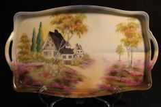 RS Germany HP Scenic Tray, Artist Signed