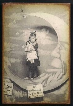 Girl with Doll on Paper Moon ~I read Paper Moon after watching the movie with my Gramma. I recommend both book and movie highly.