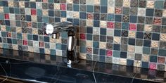 Lacca 15 mozaika u umyvadla / mosaic wall tiling Mosaic Wall Tiles, Sink, Tiling, Inspiration, Design, Home Decor, Scrappy Quilts, Sink Tops, Biblical Inspiration