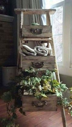Ladder and Drawers Mean Scenic Storage
