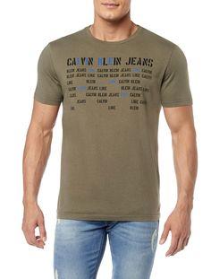 Camiseta Calvin Klein Jeans Logos Like Militar - Calvin Klein dd6d3b6db8631